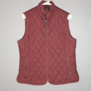 Eddie Bauer Mauve Quilted Puffer Sleeveless Vest